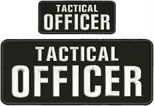 TACTICAL OFFICER EMBRIDERY PATCH 4X10 AND 2X5 hook on back white