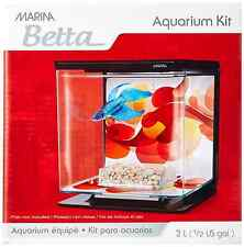 NEW Tetra Plastic Fish Tank Small Aquarium Pet Feed Box Starter Kit Set Betta