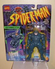 Animated Spiderman Rhino with Head Ramming Action Toy Biz 1994 MOC