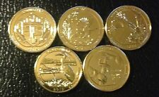 2015 S 24K GOLD LAYERED AMERICA THE BEAUTIFUL NATIONAL PARKS QUARTER SET