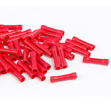 100Pcs 22-18AWG Splice Butt Insulated Electrical Wire Connector Crimp Terminals