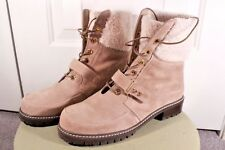 STUART WEITZMAN VIKING SHEARLING FUR SUEDE LACE UP BOOT SZ7M $498 SOLD OUT