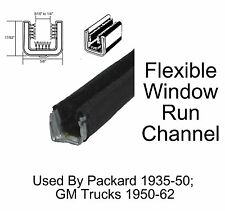 1950 - 1962 Chevy GMC Truck Window Run Channel Pair