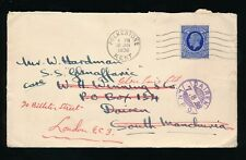 GB to CHINA SOUTH MANCHURIA 1936 JAPAN P.O REDIRECTED...WINNING AGENT to LONDON