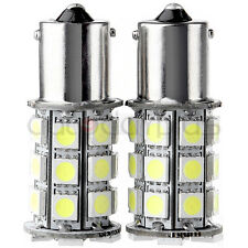 10 X White 1156 BA15S LED 27-SMD Light bulbs Tail Backup RV Camper 1141 1003