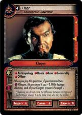 Star Trek CCG 2E These Are The Voyages Kor, Courageous Governor 12R92