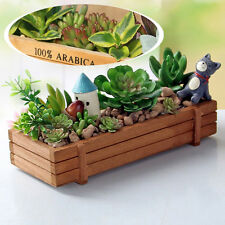 Home Wooden Cosmetics Makeup Storage Boxes Groceries Succulents Organizer Box