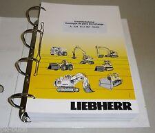 Ersatzteilkatalog Pièces de Rechange Liebherr Bagger A 924 B-LI Stand 01 / 2006