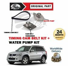 Per SUZUKI GRAND VITARA 1.9 DDiS 2005 - & GT GATES Timing Cam Belt Kit + POMPA ACQUA