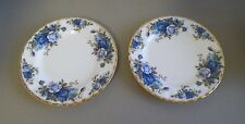 ROYAL ALBERT MOONLIGHT ROSE FINE BONE CHINA BREAD PLATES PAIR (2) UK MADE EUC