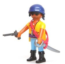 Playmobil Figure Ethnic Hispanic Pirate w/ Ammo Belt Pistol Sword Headwrap 4136
