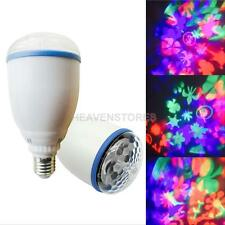 E27 3W Rotating RGB LED Bulb Stage Light Party Disco DJ Club Bar Lamp Lighting
