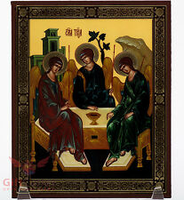 "Wooden Icon Holy Trinity Hospitality of Abraham Икона Cвятая Троица 5.1"" x 6.2"""