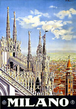 Milano Milan Italy Travel Vacation Holiday A3 Art Poster Print