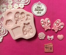 Ballet Set silicone mold fondant cake wax soap food decorating cupcake molds FDA