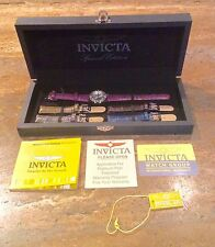 """INVICTA ANGEL COLLECTION"" BOXED 5 LEATHER STRAP WATCH SET BEAUTIFUL!!"