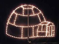 Xmas North Pole Igloo Outdoor Holiday LED Lighted Decoration Steel Wireframe