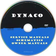Dynaco Audio Hifi Service Manuals & Schematics- PDFs on DVD - Huge Collection