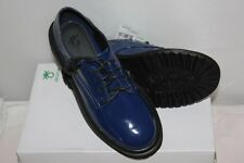 BENETTON - Chaussures Derby Bleues Vernies Taille 35 neuf