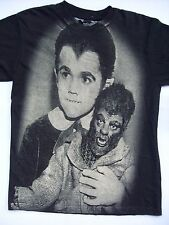 EDDIE Large T-Shirt The Munsters Addams Family Gothic Horror Classic Werewolf