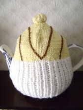 New Hand Knitted Chocolate Drizzle Cup Cake Tea Cosy~Large