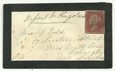 1853 CRIEFF MOURNING COVER TO ISLINGTON LONDON  ENDORSED MISSENT TO KINGSLAND