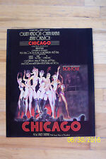 RARE* CHICAGO Poster  1977 1st EDITION*