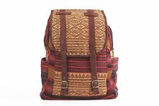 Unique Backpack Bag HMONG Village Fabric Fair Trade Thailand Boho Ethnic Style