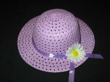 """NEW """"PURPLE DAISY"""" Dress Up Party Girls Easter Straw Hat Clothes Toddler Kid Tea"""