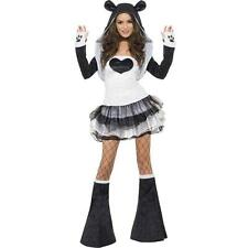 NWT WOMEN'S FEVER PANDA BEAR ADULT ANIMAL HALLOWEEN COSTUME SMALL 6-8