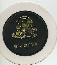 blackpool f.c. old 1970's car tax holder. new