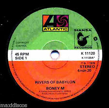 "7"" - BONEY M - RIVERS OF BABYLON  (ORIGINAL UK ISSUE 1978 COND. VG+ LISTEN*OYELO"