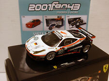 FERRARI 458 ITALIA GT2 #89 FARNBACHER LE MANS 2011 1/43 HOT WHEELS X5498