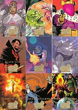 MARVEL MASTERPIECES SERIES 3 2008 UPPER DECK COMPLETE BASE CARD SET OF 90