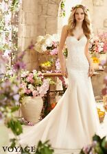 Mori Lee Bridal 6807 Ivory/Champagne size 16 Bridal Wedding Gown