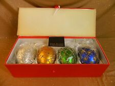 2006 Joan Rivers 1st Series 4 Russian Faberge Egg Inspired Christmas Ornaments