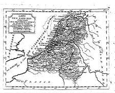 Antique map, Carte des pays bas comprenant les provinces unies