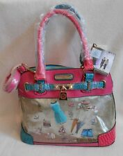 NICOLE LEE PURSE or SHOULDER BAG DOLL HOUSE PRINT DESIGN Two Sets of HANDLES