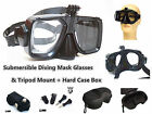 G30 Submersible Diving Mask Glasses & Tripod Mount Adapter for Sport Action Cam