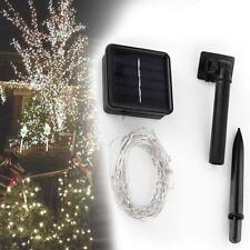 10M Solaire Chain Fil Lumière cordes 100 Cuivre LED Outdoor Party Lamp Blanc ED