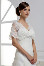 New Vintage Lace Wedding Dresses  Gown Bridal Dress White Ivory Size 10 12 14+