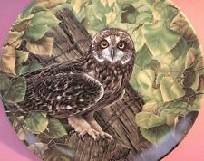THE SHORT-EARED OWL PLATE JIM BEAUDOIN (1990) THE STATELY OWLS SERIES