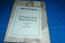 """Keepsake Quilting victorian labels panel  tea dyed 1 panel 24x44"""" new fabric"""