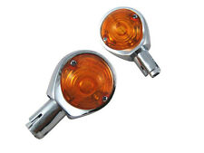 "Chrome Hella Replica 22mm 7/8"" Bar End Indicators Motorbike Motorcycle Trike"
