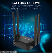 LAFALINK LF - R390 Wireless 802.11 300Mbps 4 x 6dBi High Power Wifi Router