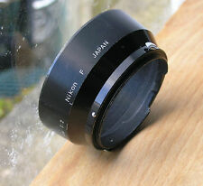 genuine earlier nikon F 5cm lens hood for 50mm  52mm screw clip in ( japan)
