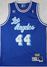 Brand New NBA Jerry West 1960 Los Angeles Lakers Blue Jersey,  Stitched Size M
