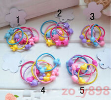 Cute 20x Girls Hairband Women Hair Rope Beauty Scrunchie Bracelet Random #1