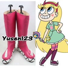 Star vs.the Forces of Evil Princess Star Butterfly Magic Cosplay Pink Shoe Boots