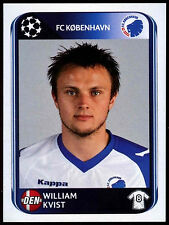 William Kvist FC Kobenhavn #253 UEFA Champions League 2010-11 Sticker (C199)